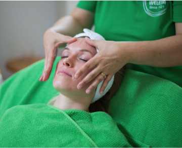 Pre-book your Weleda facial