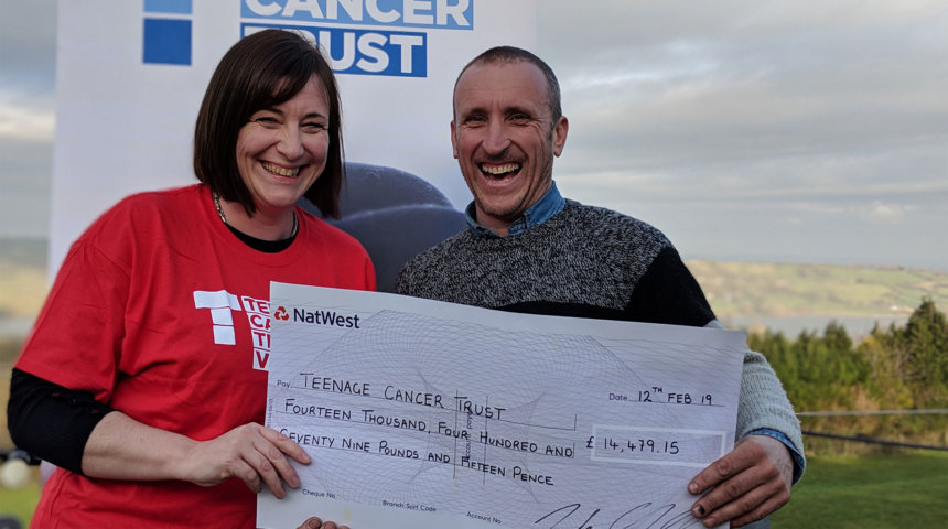 £14,479.15 raised for Teenage Cancer Trust